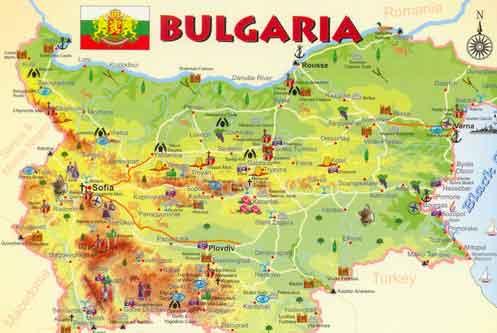 Mapa de Monumentos na Bulgária 3