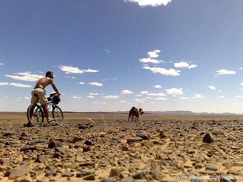 Viagem Bicicleta Erfoud até Dunas Erg Chebbi