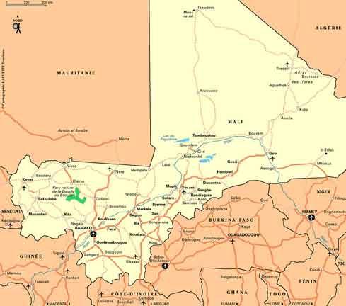 Mapa Grande do Mali