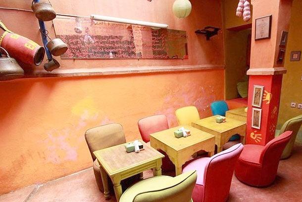 Earth Café, Restaurante Vegetariano Marrakech Marrocos