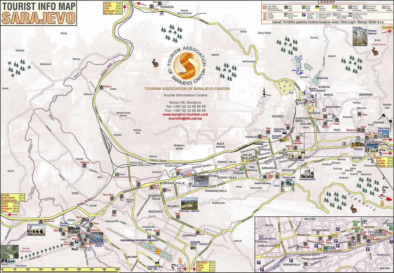 Mapa de Sarajevo