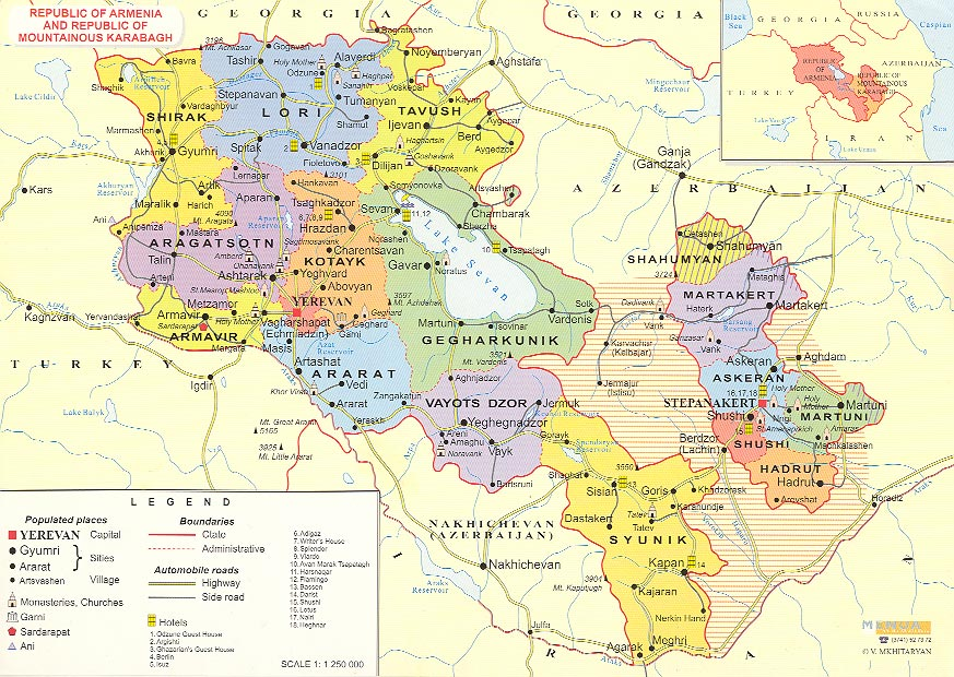 Mapa da Regiao de Nagorno-Karabakh