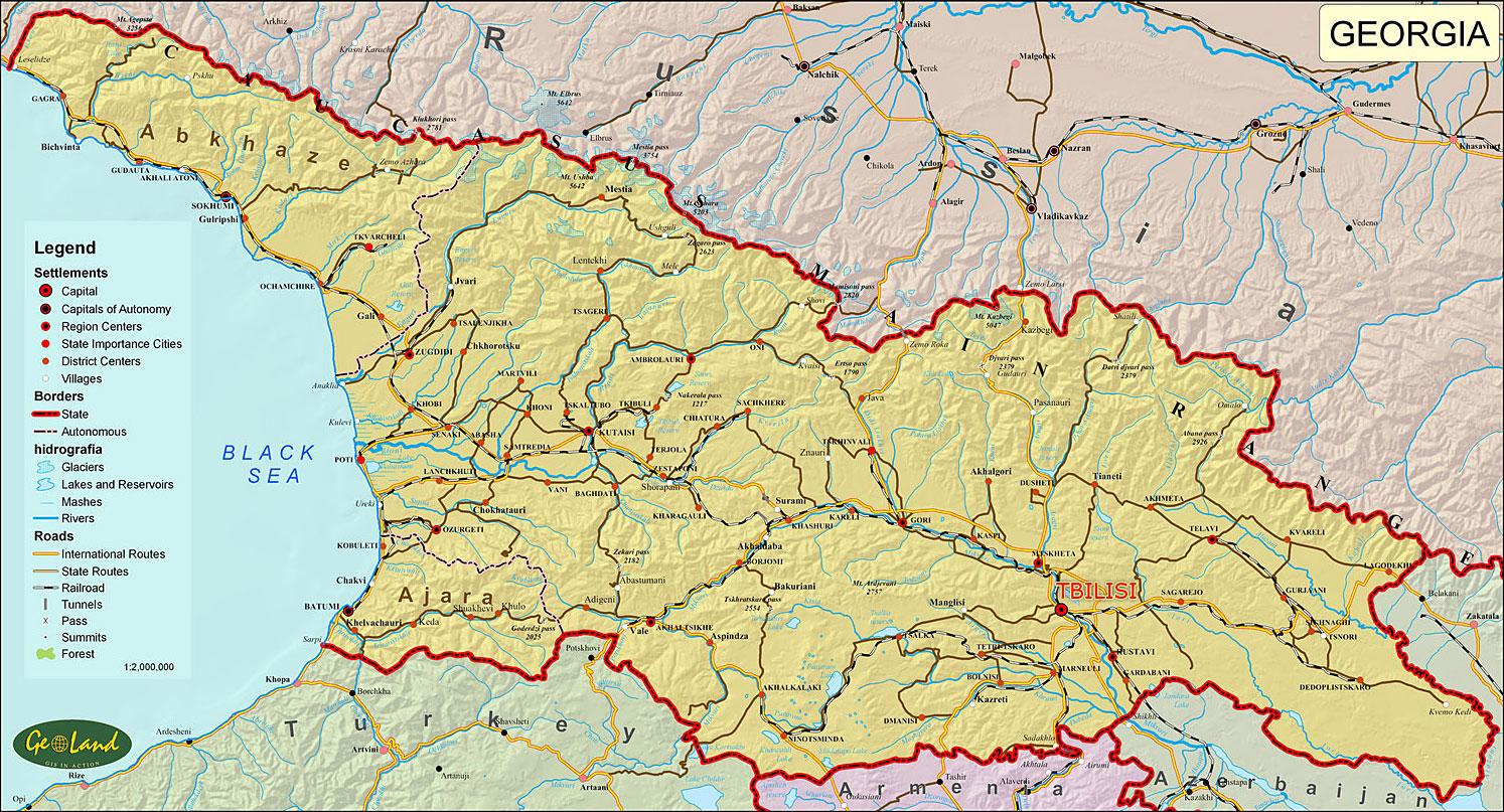 Mapa da Geórgia 3