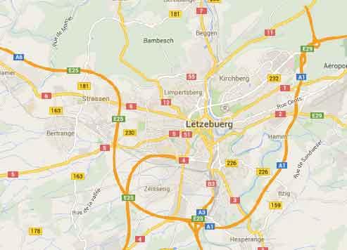 Mapa Google Luxemburgo