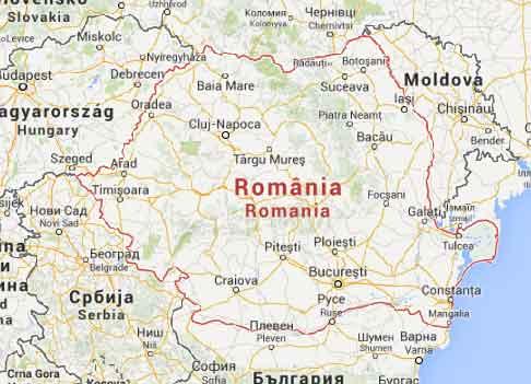 Mapa Google Roménia