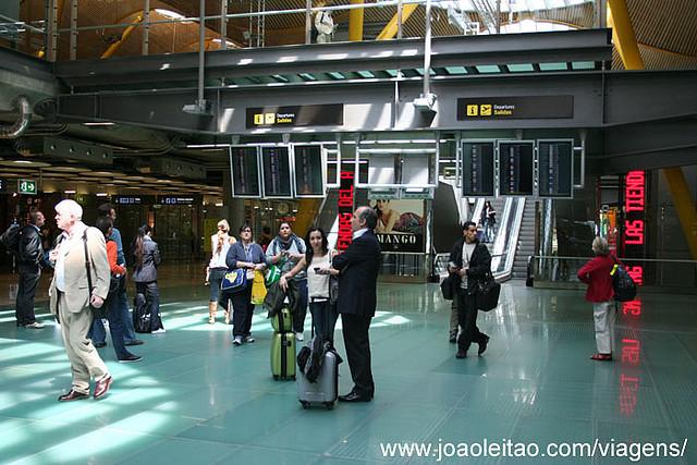 Aeroporto Barajas em Madrid, Espanha