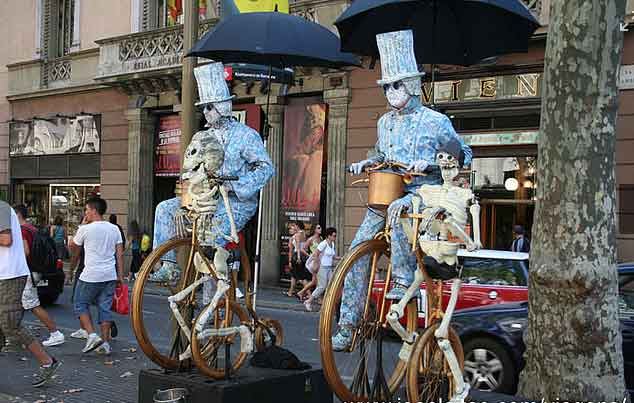 Artistas de Rua Las Ramblas, Barcelona