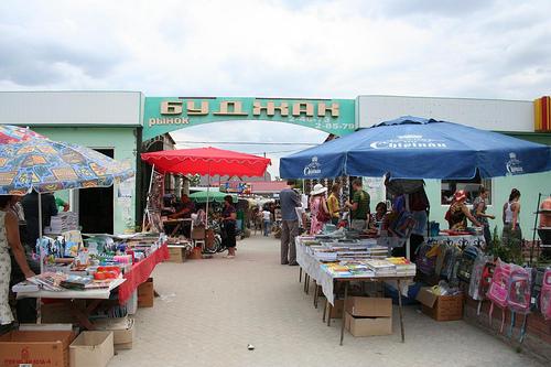 Mercado em Comrat, Gaguzia