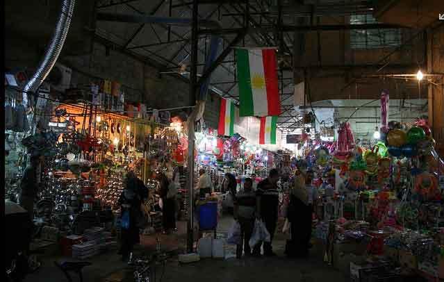 Mercado Qaysari em Erbil, Região Curdistão, Iraque