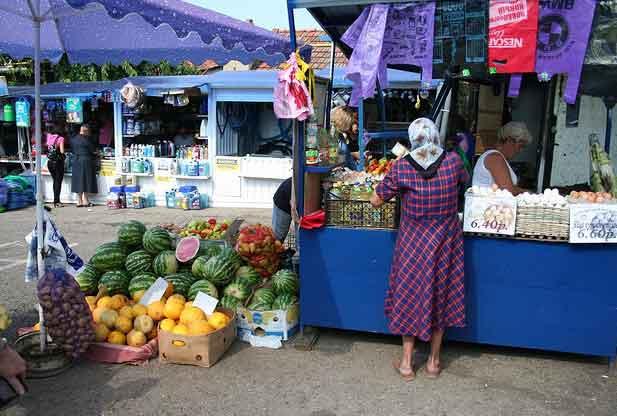 Mercado Central em Tiraspol, Pridnestróvia Transnístria