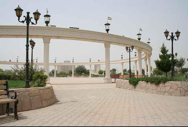 Parque Minare em Erbil, Região Curdistão, Iraque