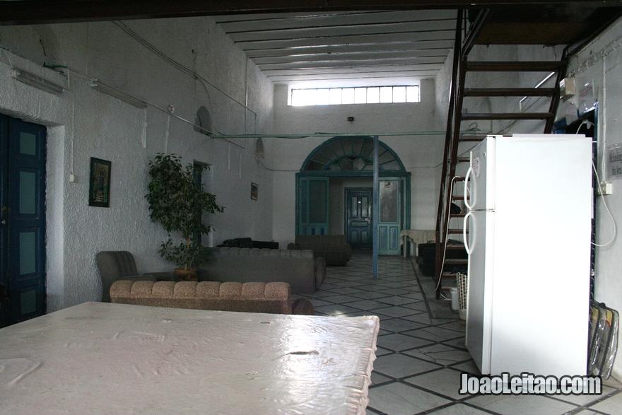 Dentro do Hostel Petra em Jerusalém