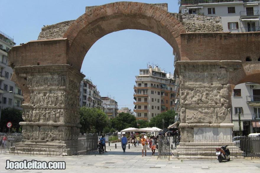 Arco de Galerius em Salónica, Visitar a Grécia
