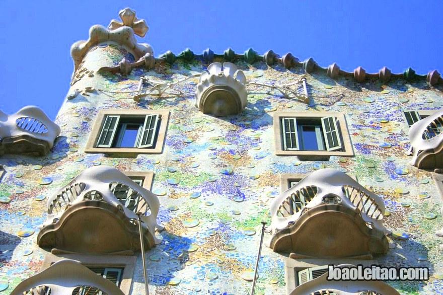 Foto da Casa Batlló em Barcelona