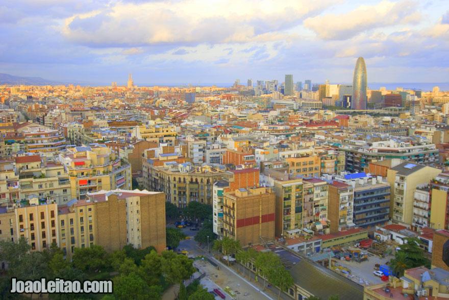 Panorâmica da Cidade de Barcelona