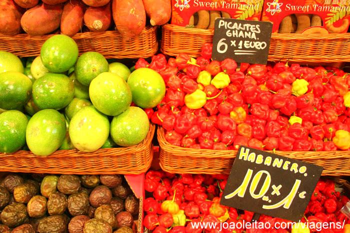 Foto do Mercado La Boqueria em Barcelona