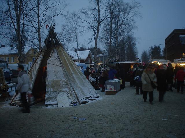 Fotografias de Jokkmokk na Lapónia, Norte da Suécia