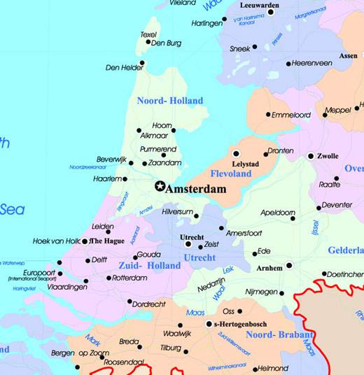 Mapa da Holanda