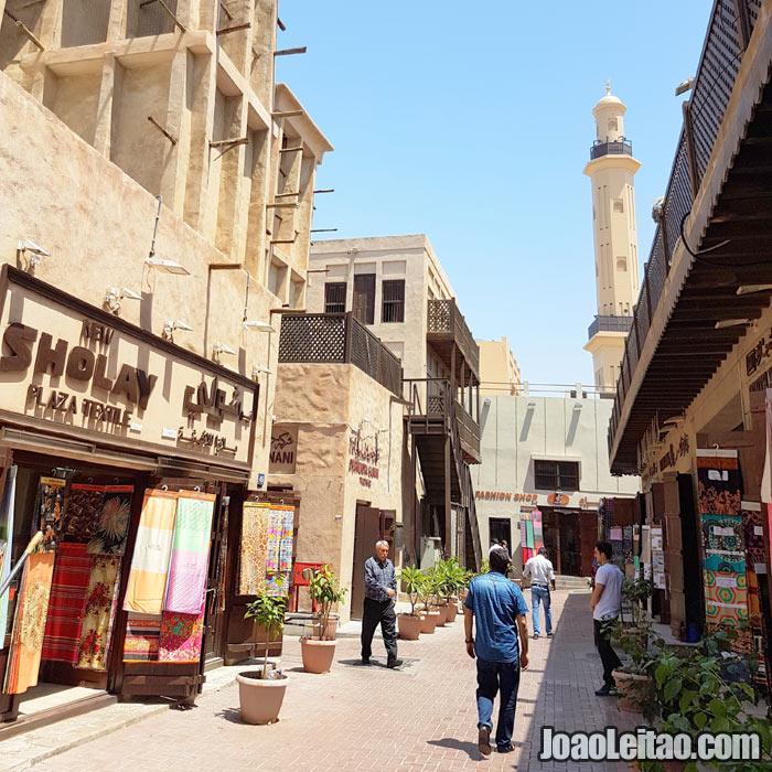 Souk antigo de Dubai