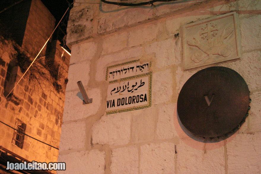 Via Dolorosa - Via Sacra de Jesus Cristo em Jerusalém