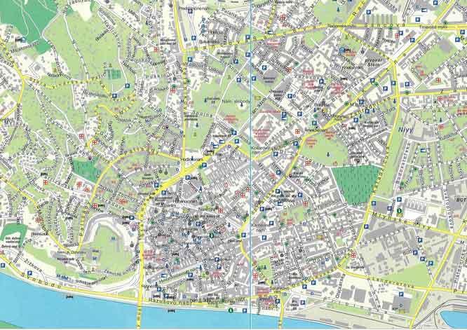 Mapa Monumentos Bratislava Eslováquia