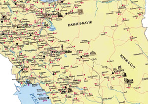 Mapa Turistico Irao