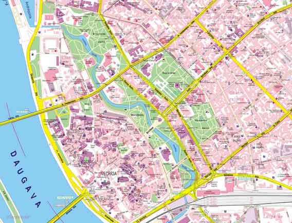 Mapa Monumentos Riga, Letónia