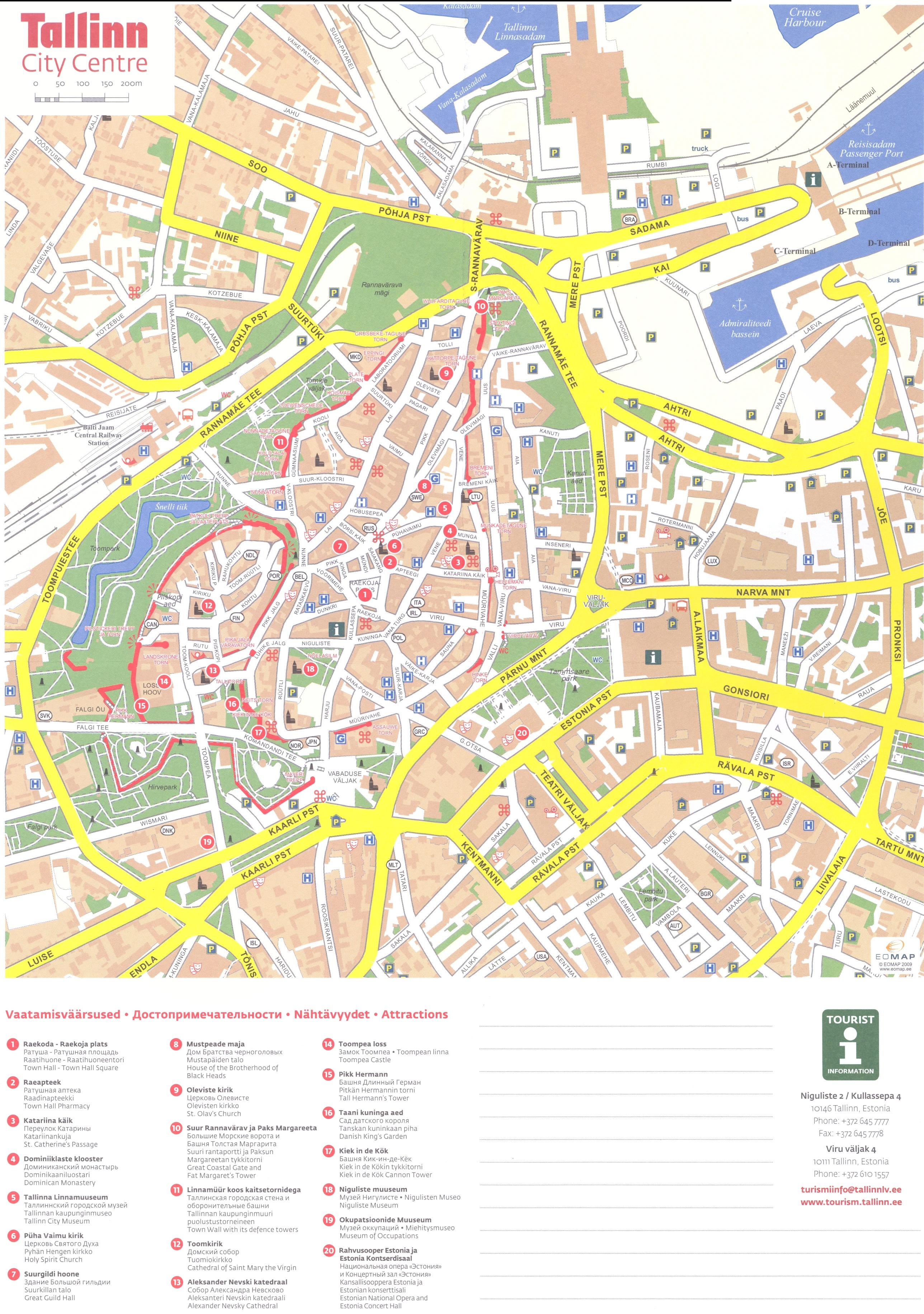 Mapa Monumentos Tallinn Estónia