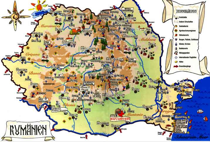 Mapa Turístico da Roménia