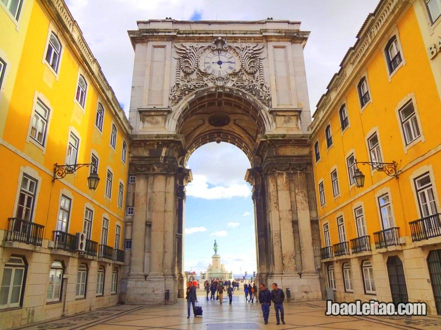 Foto do Arco da Rua Augusta em Lisboa