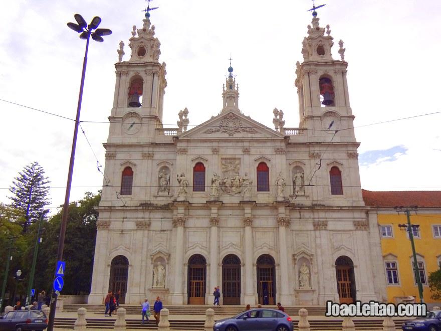 Foto da Basílica da Estrela em Lisboa