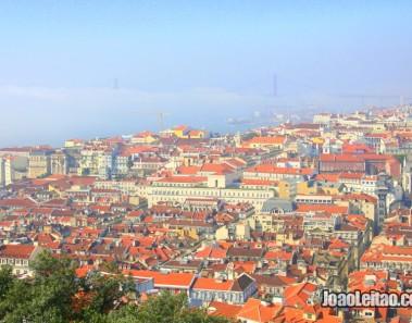 Vista Panorâmica de Lisboa e Rio Tejo desde o Castelo de São Jorge