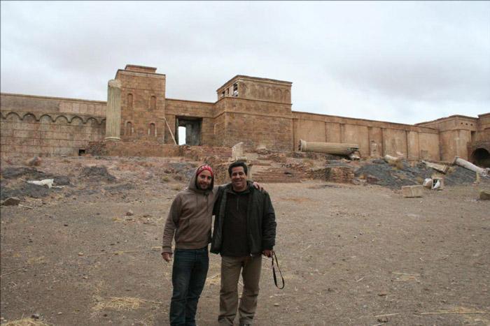 André Parente e João Leitão a visitarem os estúdios de cinema em Ouarzazate Marrocos