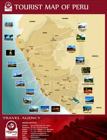 Mapa Turístico Peru