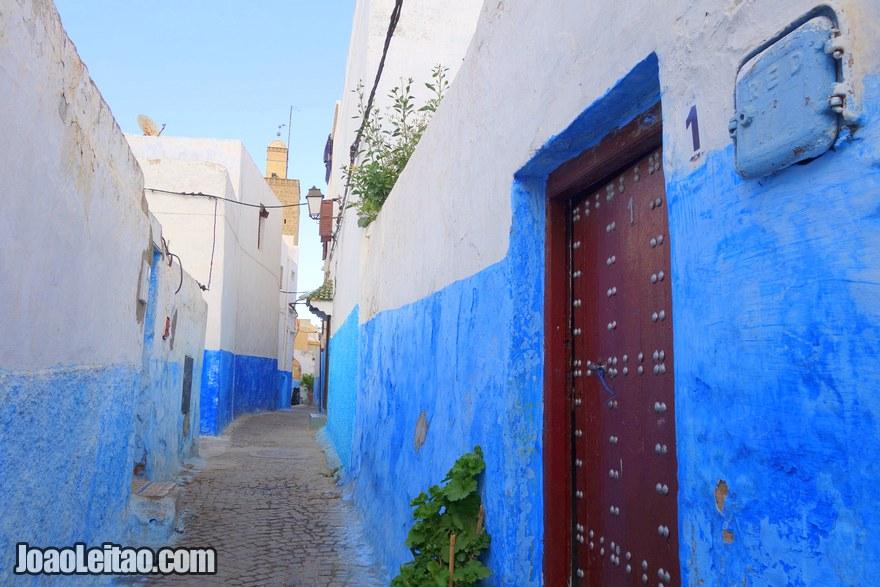 Foto do interior do Casbá de Oudaias