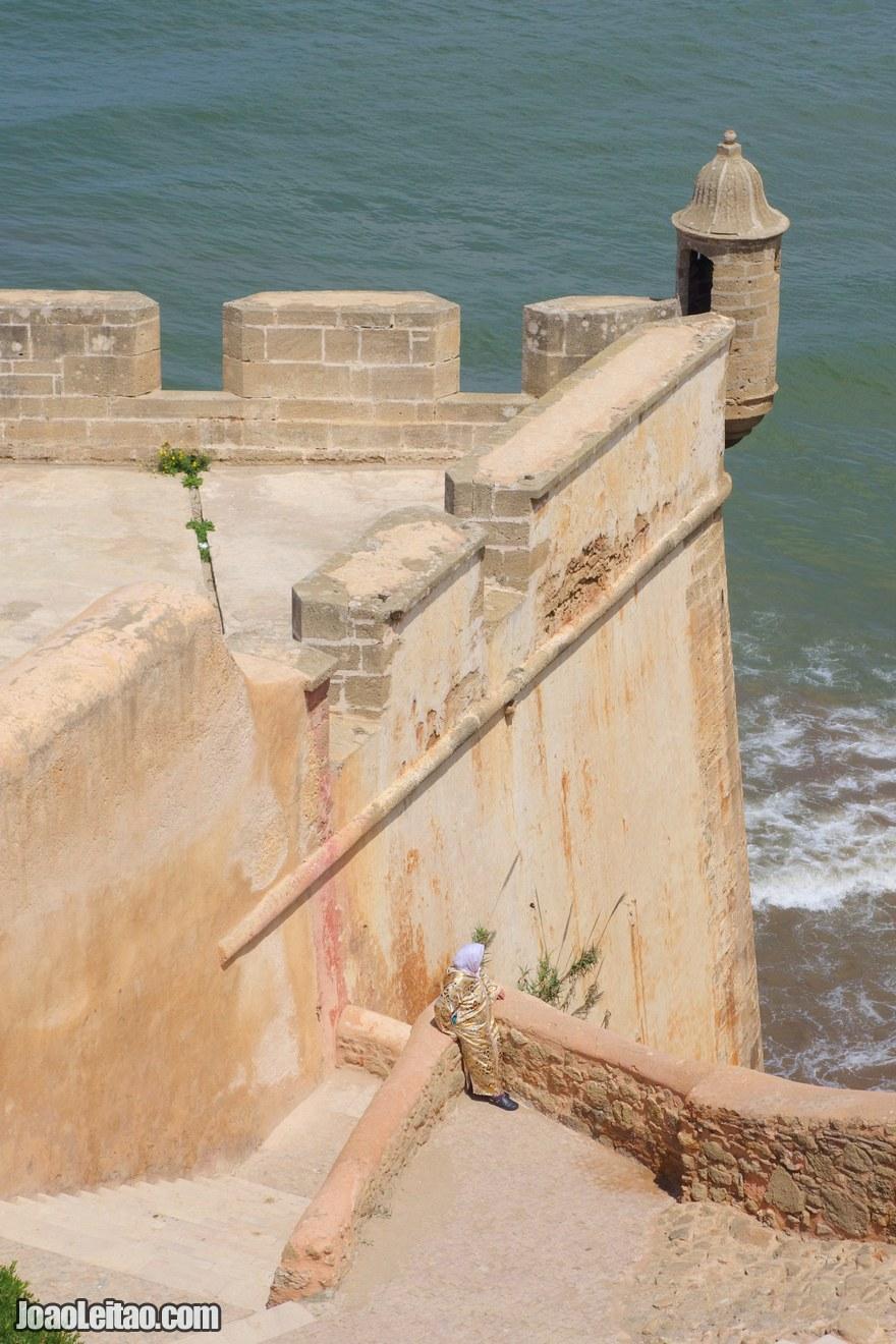 Foto fortaleza portuguesa no Casbá de Oudaias