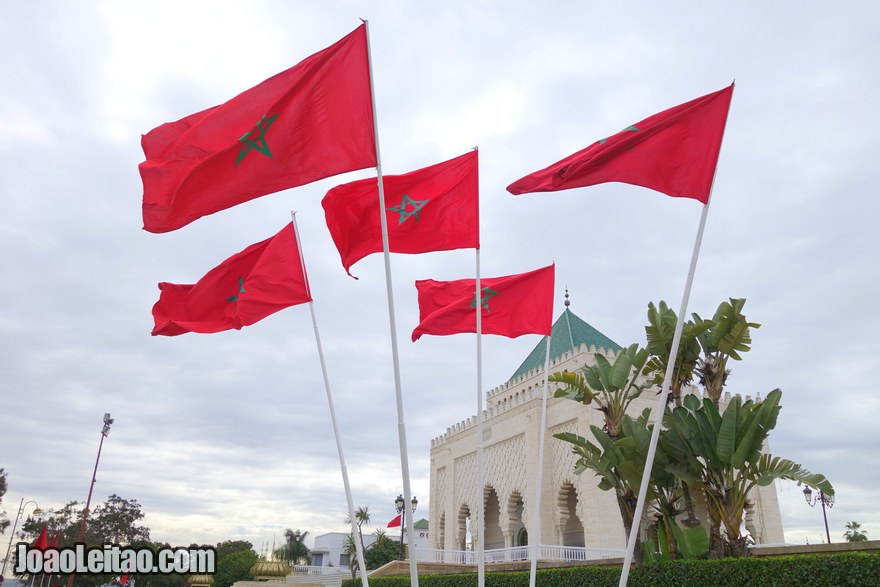 Foto do exterior do Mausoléu Mohammed V