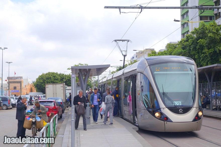 Foto do Tramway de Rabat, o moderno eléctrico da cidade