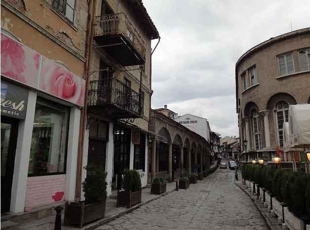 Fotografias da parte antiga de Veliko Tarnovo Bulgária 20