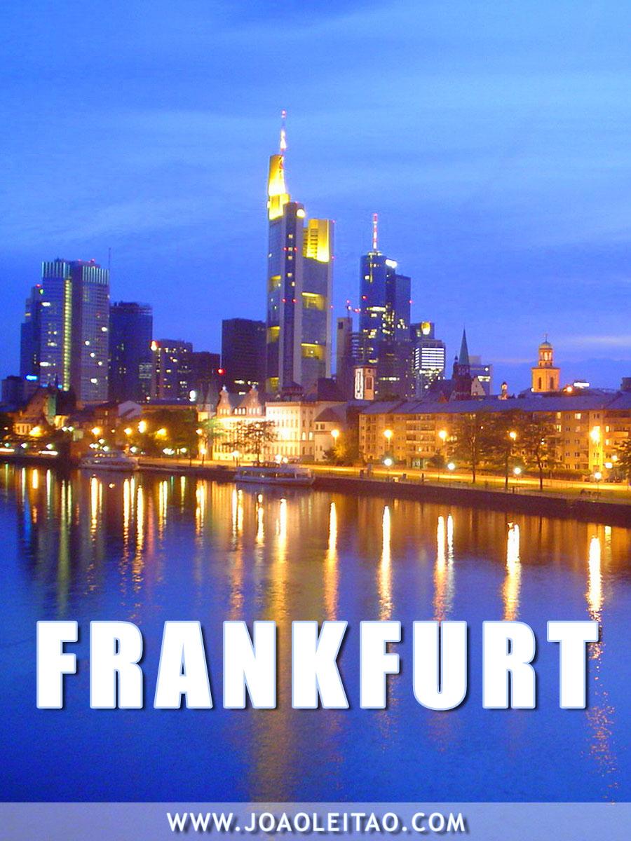 Visitar Frankfurt, Guia de Viagem - Dicas, Roteiros, Mapas, Fotos
