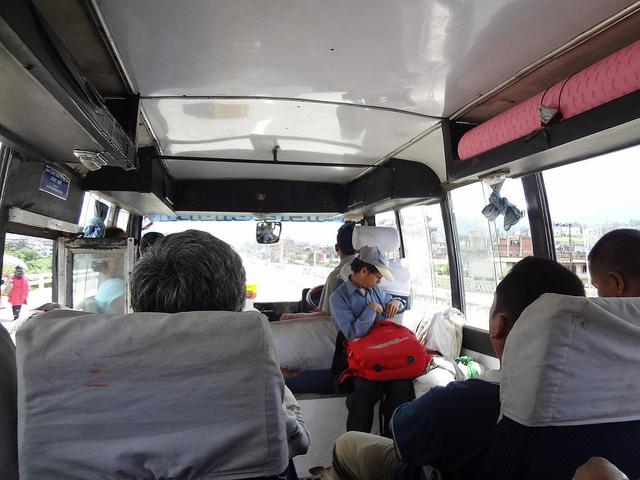 Autocarro desde Kathmandu até Bhaktapur Nepal