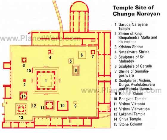 Mapa Templo Changu Narayan em Bhaktapur, Nepal