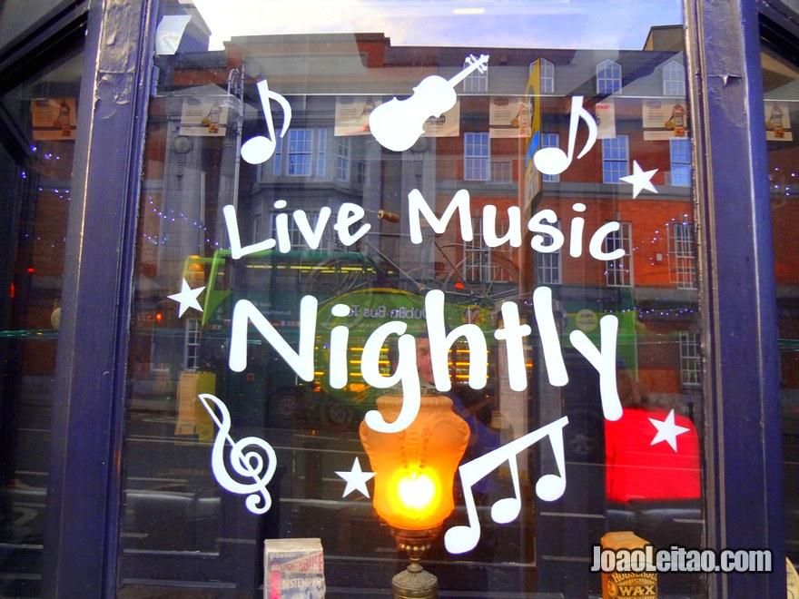 Foto de Pub com musica ao Vivo em Dublin