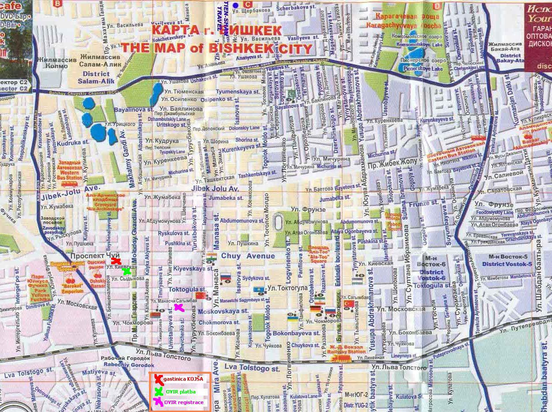 Mapa de Bishkek