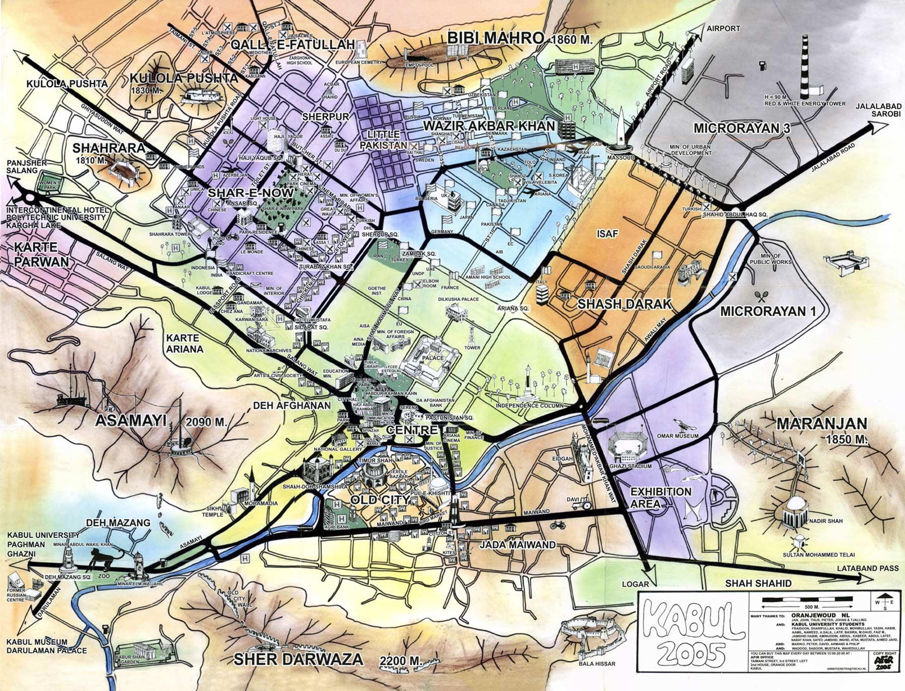 Mapa de Cabul