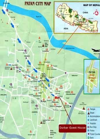 Mapas de Patan, Nepal