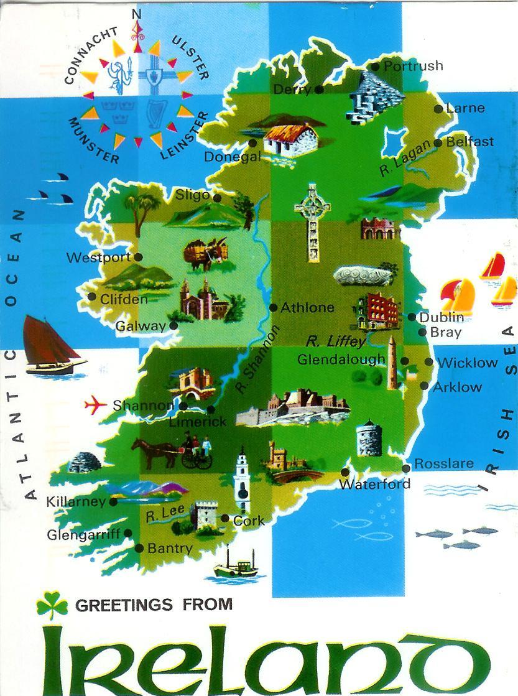 Mapa Turístico da Irlanda