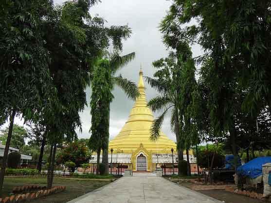 Mosteiro Myanmar de Lumbini, Nepal