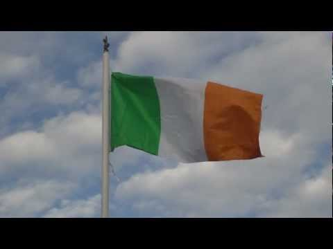 Vídeo da Bandeira da Irlanda em Dublin 1