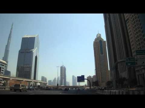 Vídeo conduzir centro do Dubai, Emirados Árabes Unidos 2